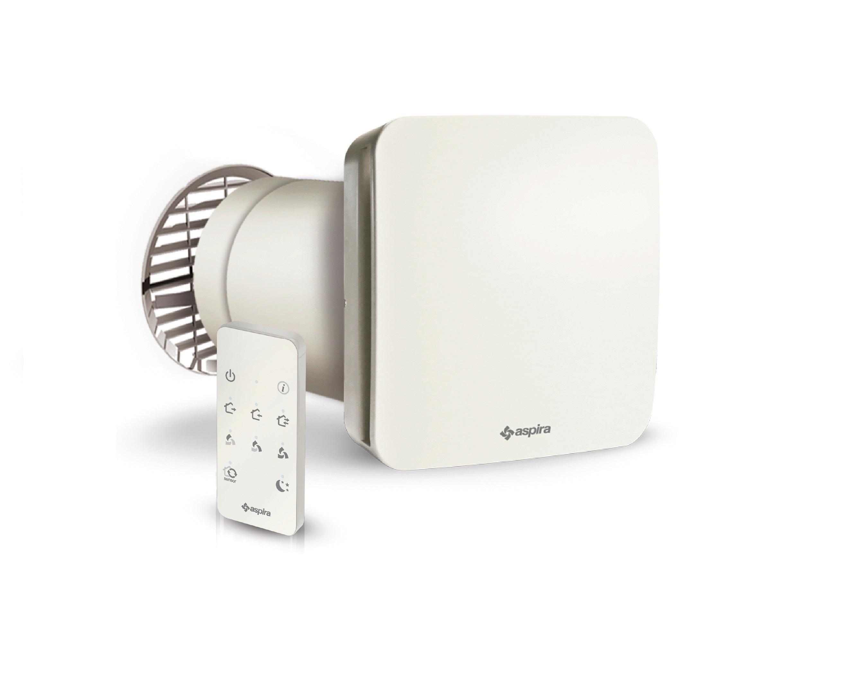 Unitate Aspira ECOCOMFORT 160 RF ventilatie cu recuperare de caldura