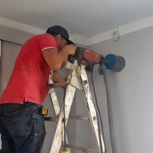 Carotare perete pentru unitate de ventilatie