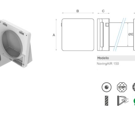 NovingAIR unitate de ventilatie cu recuperare de caldura Active schema si dimensiuni