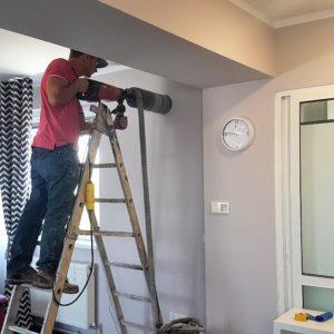 Carotare perete pentru instalare sistem de ventilatie
