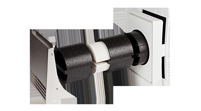 Unitate Sevi 160 Duo Mini de ventilatie cu recuperared e caldura 480mm