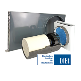 Unitate Sevi160U de ventilatie cu recuperare de caldura integrata in fatada