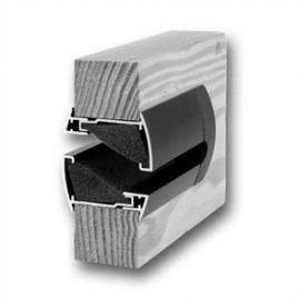 Grila ventilatie usa cu atenuare fonica Silendo Renson