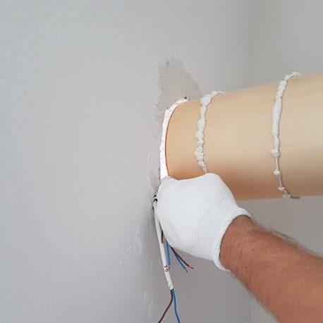 Fixare tubulatura NovingAIR in perete