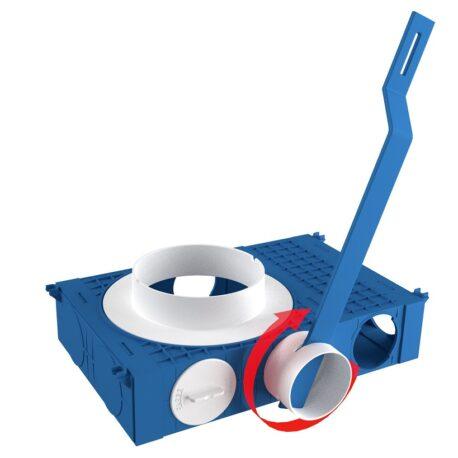 Asamblare-spigot-75-modular-componente-ventilatie-BLUE-Novingair