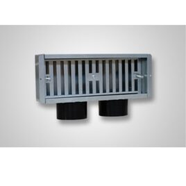 Plenum perete 2x 75 300x100mm intrare laterala AEPLMLS