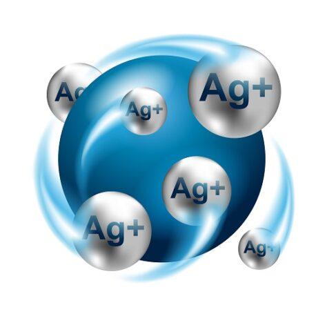 Silver ions action 3D emblem – antibacterial