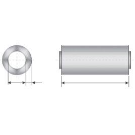 Atenuator zgomot D125 50x600mm, vata bazaltica, KMF