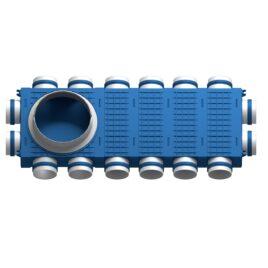 Distribuitor ventilatie BLUE 16×75 DN200 ABS triplu tratat