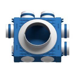 Distribuitor ventilatie BLUE 5×75 DN160 ABS triplu tratat