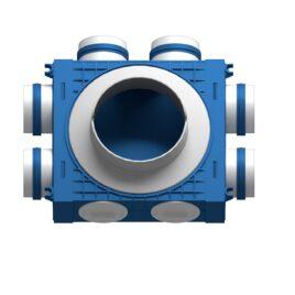 Distribuitor ventilatie BLUE 6×75 DN160 ABS triplu tratat