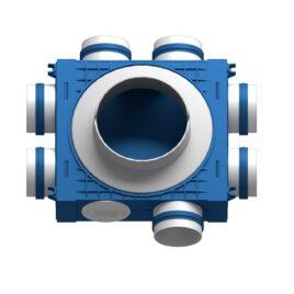 Distribuitor ventilatie BLUE 7×75 DN160 ABS triplu tratat