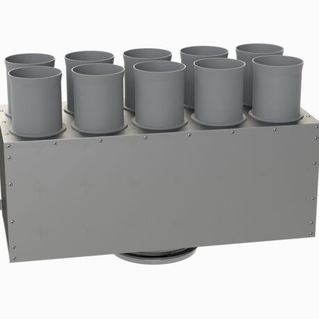 distribuitor-ventilatie-liniar-izolat-10xdn75-160mm-kmf