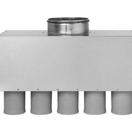 distribuitor-ventilatie-metalic-liniar-izolat-10xdn75-160mm-kmf-front