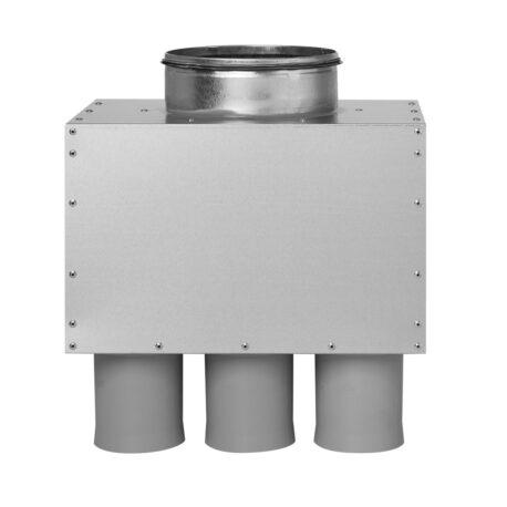 distribuitor-ventilatie-metalic-liniar-izolat-6xdn75-160mm-kmf-front