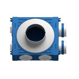 Plenum ventilatie BLUE 2×75 DN125 ABS triplu tratat