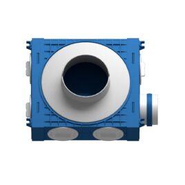Plenum ventilatie BLUE 1×75 DN125 ABS triplu tratat